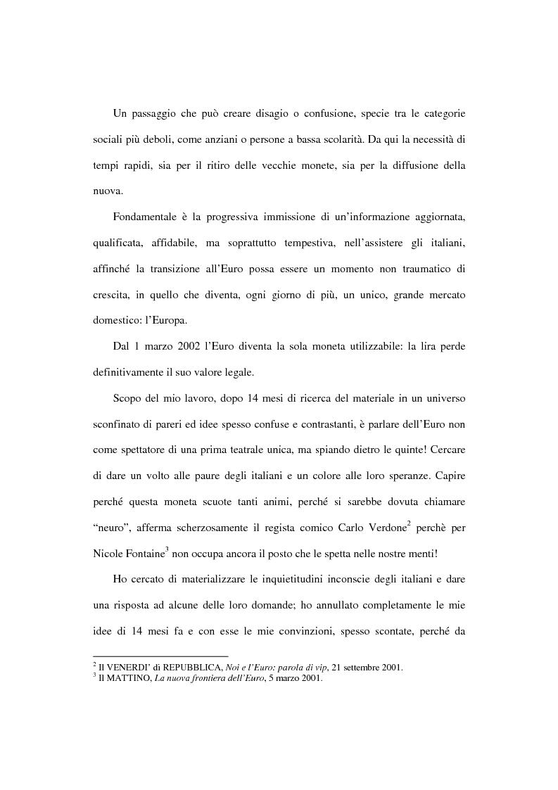 Anteprima della tesi: L'euro e i cittadini: aspettative e timori, Pagina 4