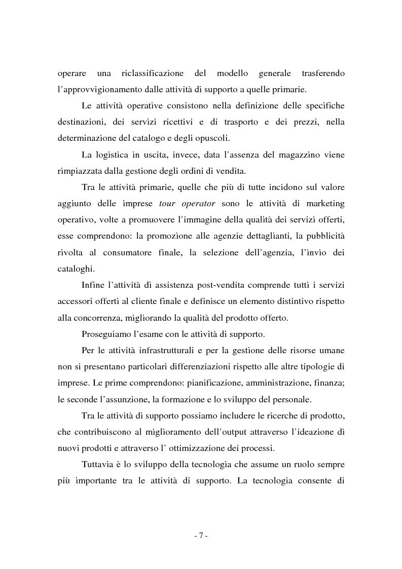 Anteprima della tesi: L'evoluzione della figura del tour operator: processi di concentrazione e specializzazione, Pagina 11
