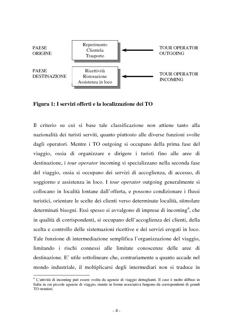 Anteprima della tesi: L'evoluzione della figura del tour operator: processi di concentrazione e specializzazione, Pagina 8