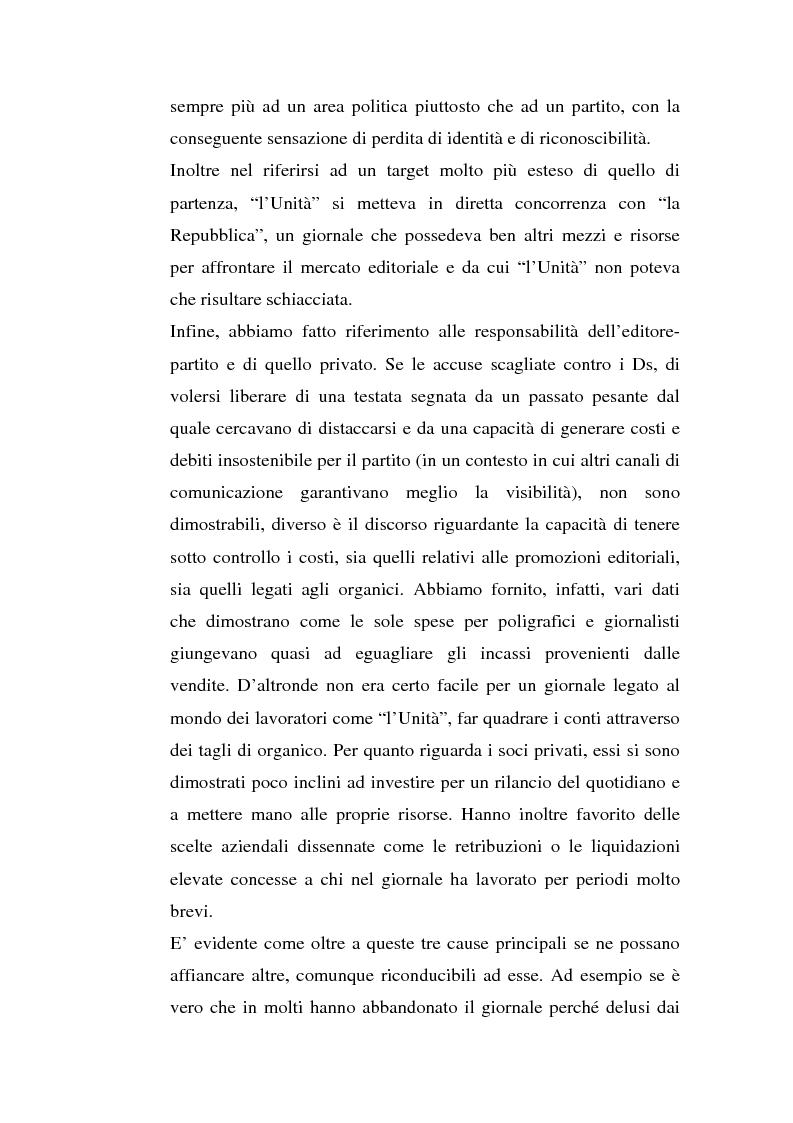 Anteprima della tesi: ''L'Unità'' dal 1990 al 2000. Il perché di una crisi, Pagina 12