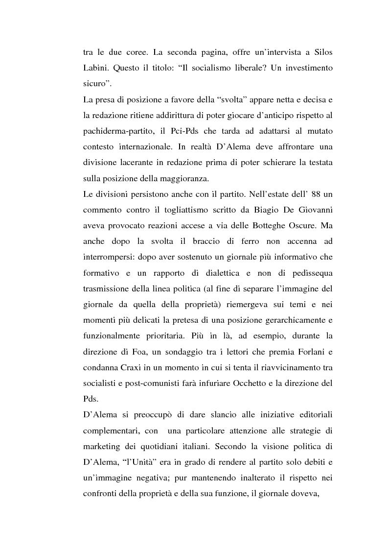 Anteprima della tesi: ''L'Unità'' dal 1990 al 2000. Il perché di una crisi, Pagina 5