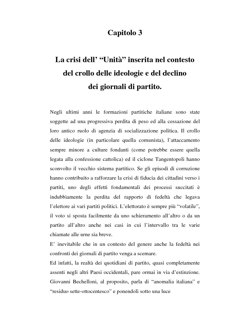 Anteprima della tesi: ''L'Unità'' dal 1990 al 2000. Il perché di una crisi, Pagina 6