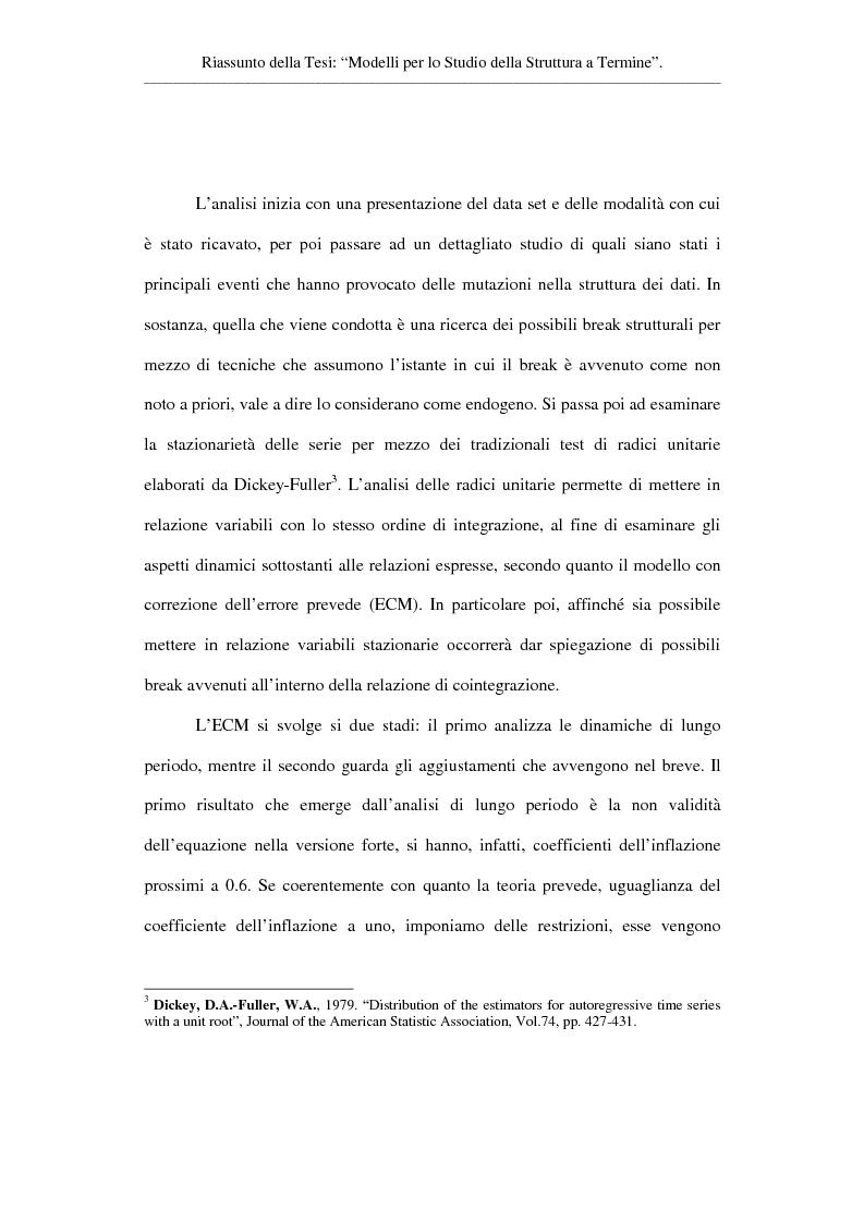 Anteprima della tesi: Modelli per lo studio della struttura a termine, Pagina 3