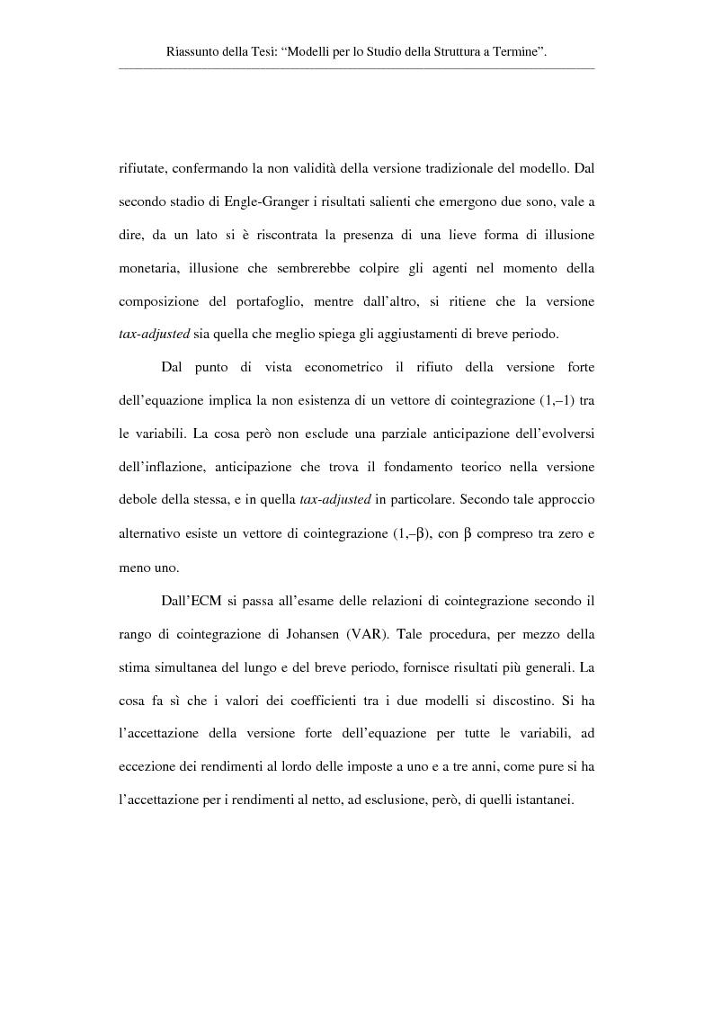Anteprima della tesi: Modelli per lo studio della struttura a termine, Pagina 4