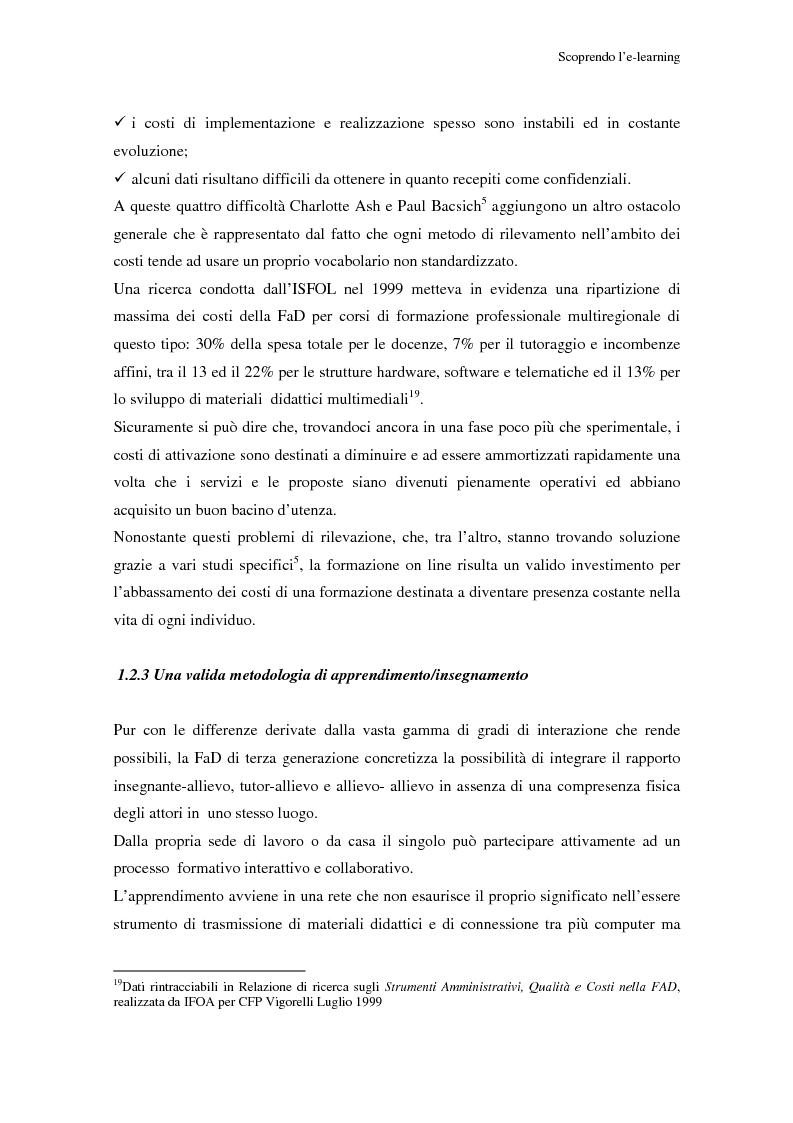 Anteprima della tesi: Qualità dell'e-learning. Esperienze italiane e buone pratiche internazionali, Pagina 12