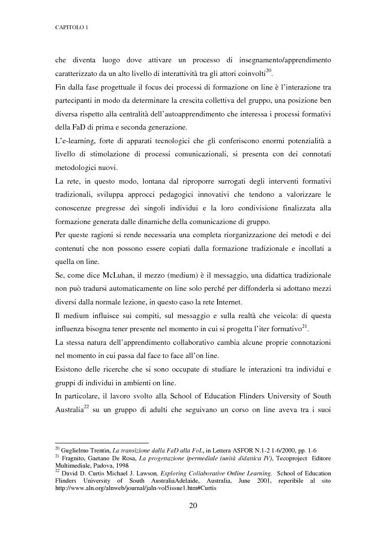 Anteprima della tesi: Qualità dell'e-learning. Esperienze italiane e buone pratiche internazionali, Pagina 13