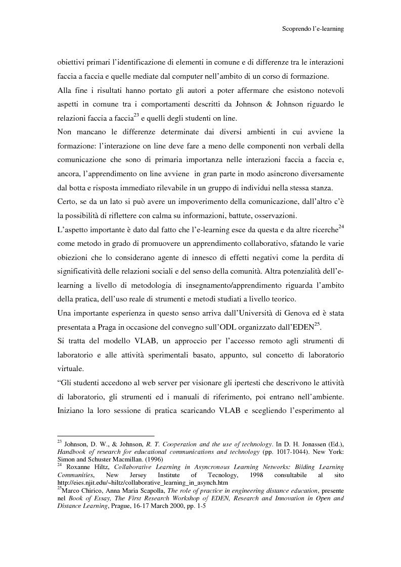Anteprima della tesi: Qualità dell'e-learning. Esperienze italiane e buone pratiche internazionali, Pagina 14