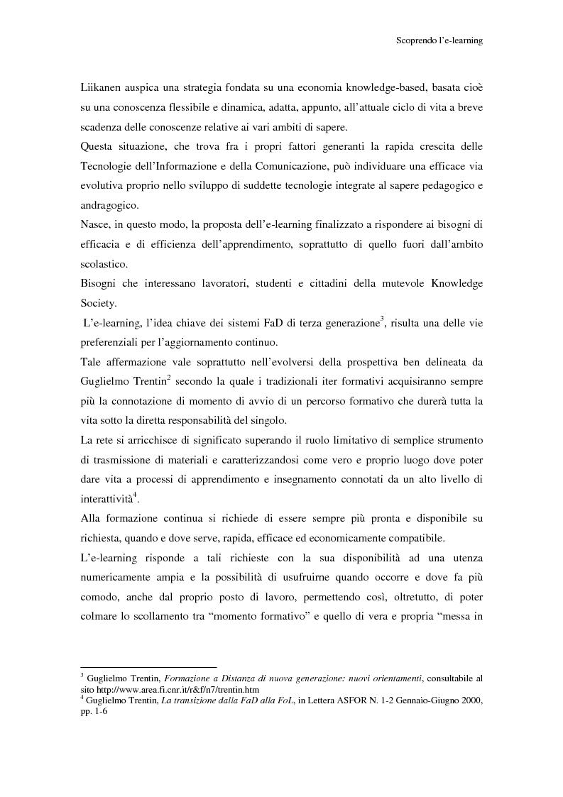 Anteprima della tesi: Qualità dell'e-learning. Esperienze italiane e buone pratiche internazionali, Pagina 4