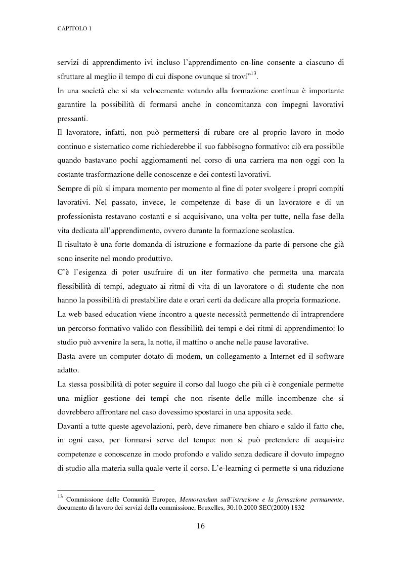 Anteprima della tesi: Qualità dell'e-learning. Esperienze italiane e buone pratiche internazionali, Pagina 9