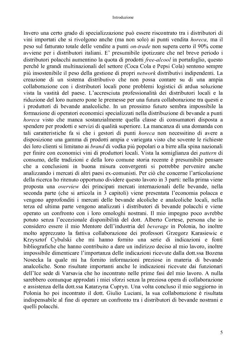 Anteprima della tesi: La distribuzione di bevande in Polonia, Pagina 3
