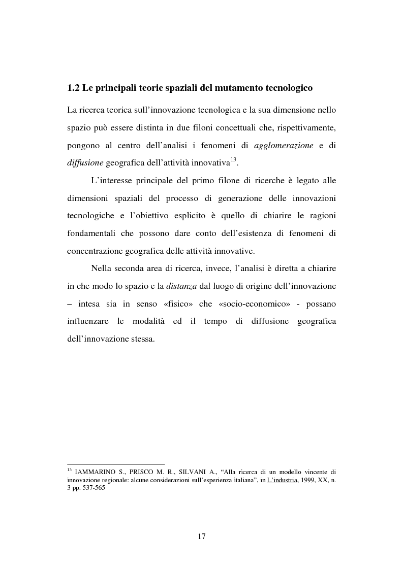 Anteprima della tesi: Aspetti territoriali dell'innovazione tecnologica nell'industria italiana, Pagina 13