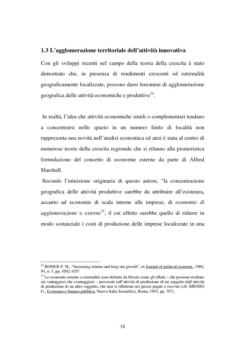 Anteprima della tesi: Aspetti territoriali dell'innovazione tecnologica nell'industria italiana, Pagina 14