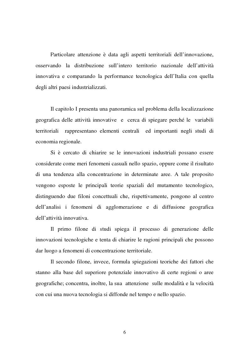 Anteprima della tesi: Aspetti territoriali dell'innovazione tecnologica nell'industria italiana, Pagina 2