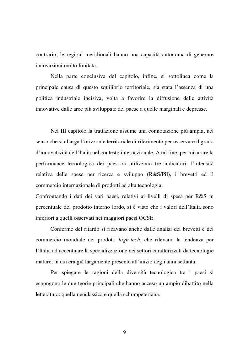 Anteprima della tesi: Aspetti territoriali dell'innovazione tecnologica nell'industria italiana, Pagina 5