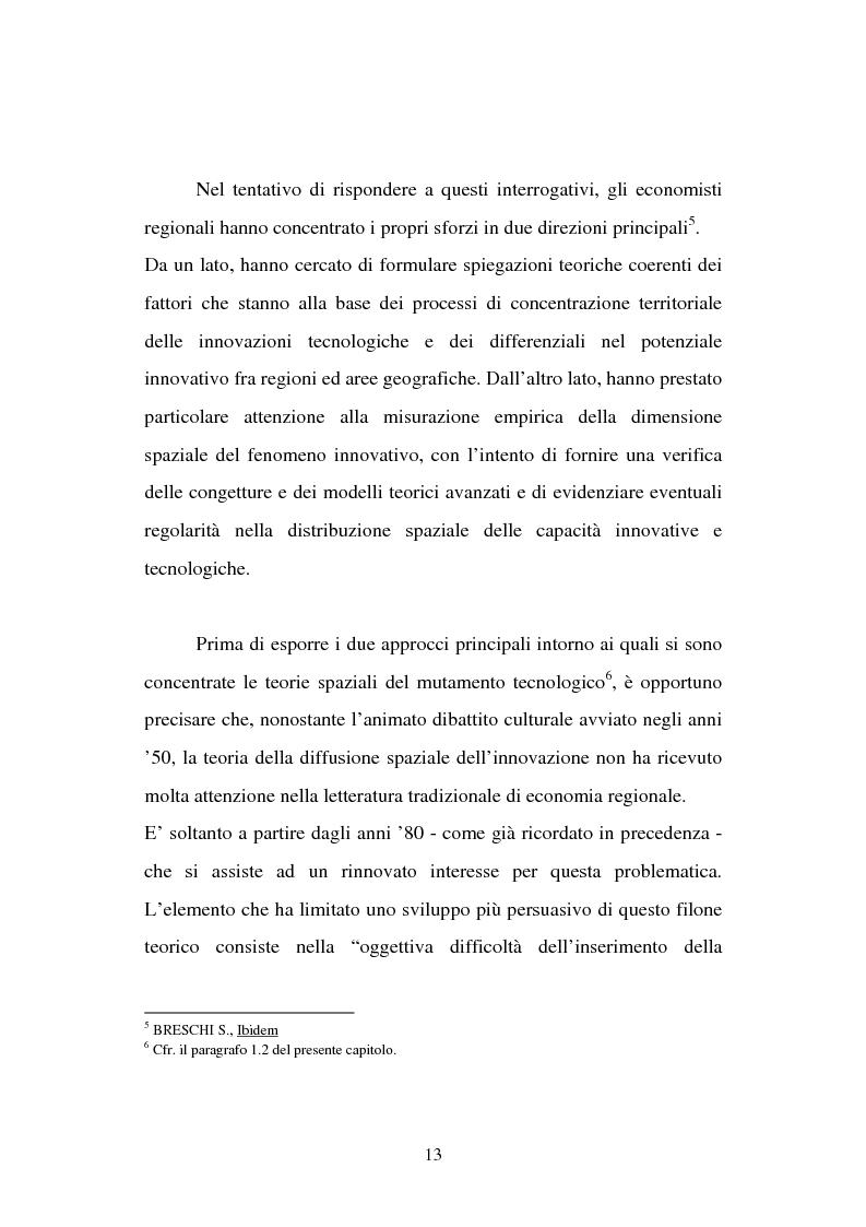 Anteprima della tesi: Aspetti territoriali dell'innovazione tecnologica nell'industria italiana, Pagina 9