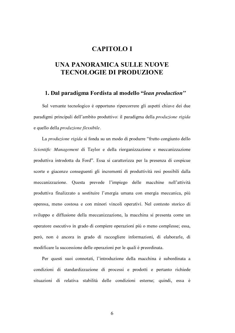 Anteprima della tesi: La valutazione degli investimenti in nuove tecnologie produttive, Pagina 6