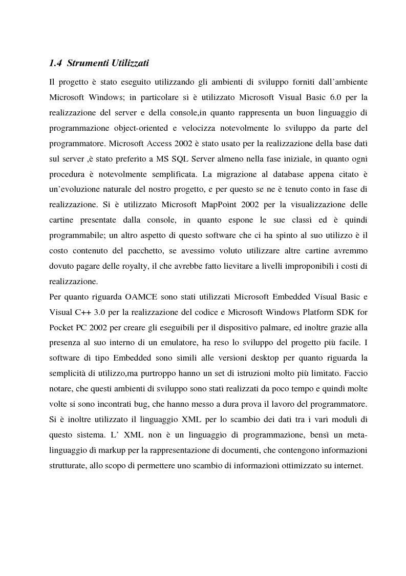 Anteprima della tesi: Condivisione di dati tra stazioni fisse ed apparecchiature mobili, Pagina 6
