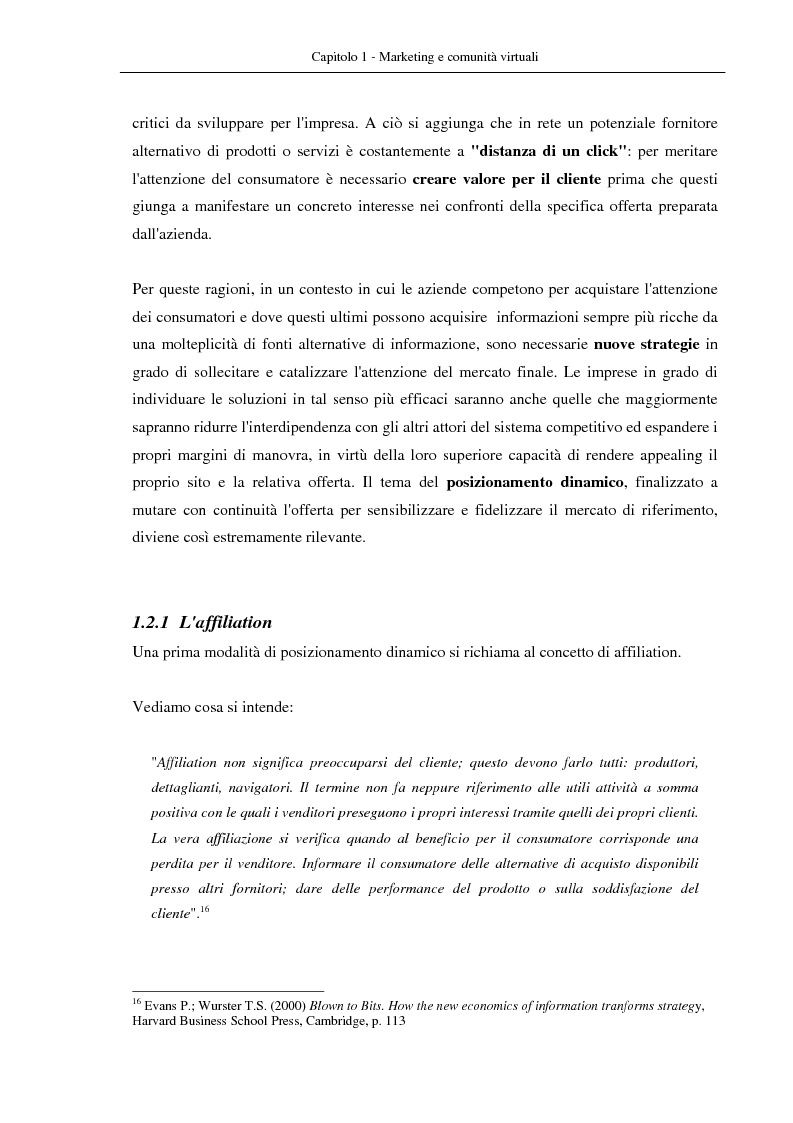 Anteprima della tesi: Nuovi modelli di business: le comunità virtuali. Il caso di Fondi.it, Pagina 13