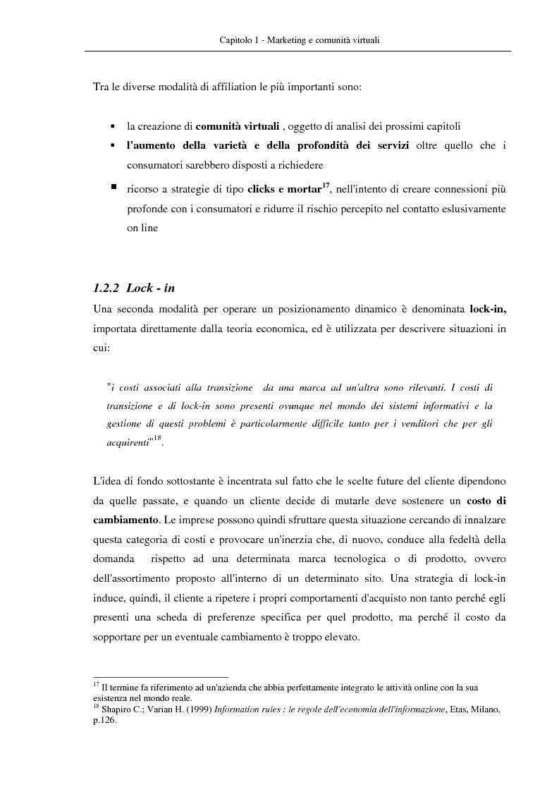 Anteprima della tesi: Nuovi modelli di business: le comunità virtuali. Il caso di Fondi.it, Pagina 15
