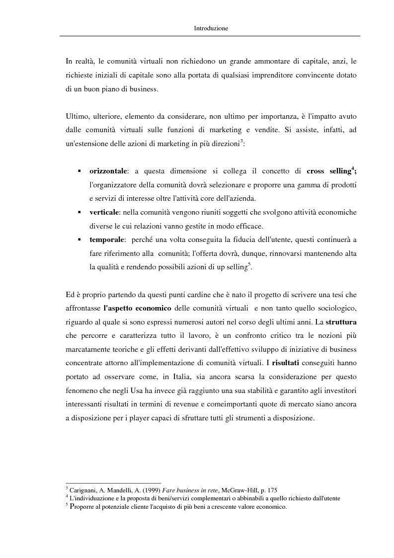 Anteprima della tesi: Nuovi modelli di business: le comunità virtuali. Il caso di Fondi.it, Pagina 3