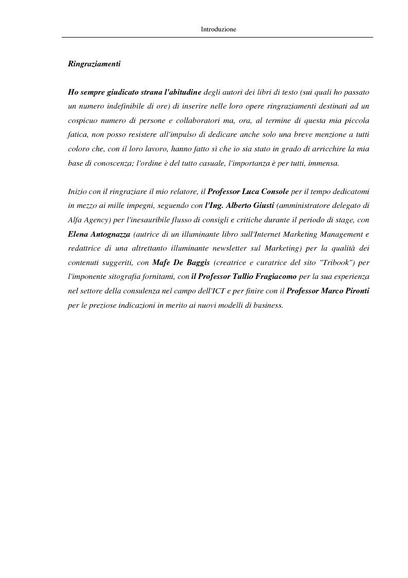 Anteprima della tesi: Nuovi modelli di business: le comunità virtuali. Il caso di Fondi.it, Pagina 6