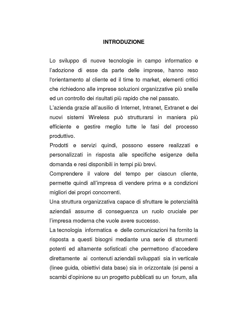 Anteprima della tesi: Riflessi dell'evoluzione dei modelli di networking nelle organizzazioni, Pagina 1