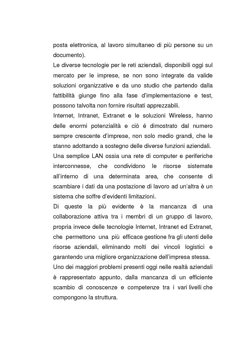 Anteprima della tesi: Riflessi dell'evoluzione dei modelli di networking nelle organizzazioni, Pagina 2