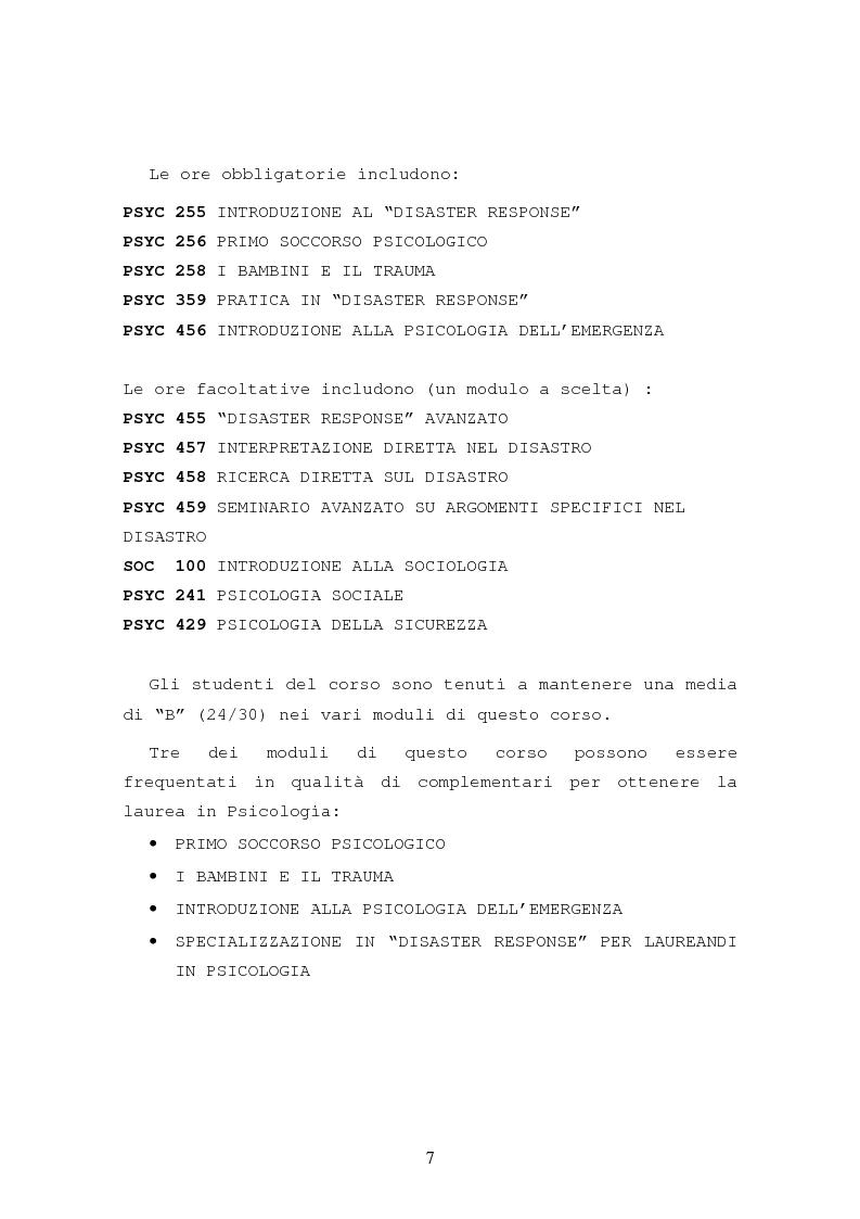 Anteprima della tesi: La formazione in psicologia dell'emergenza, Pagina 10
