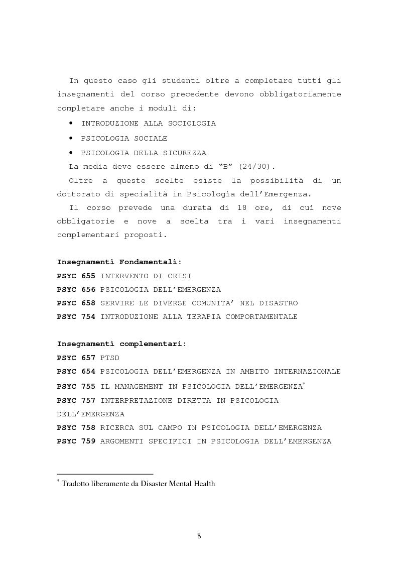 Anteprima della tesi: La formazione in psicologia dell'emergenza, Pagina 11