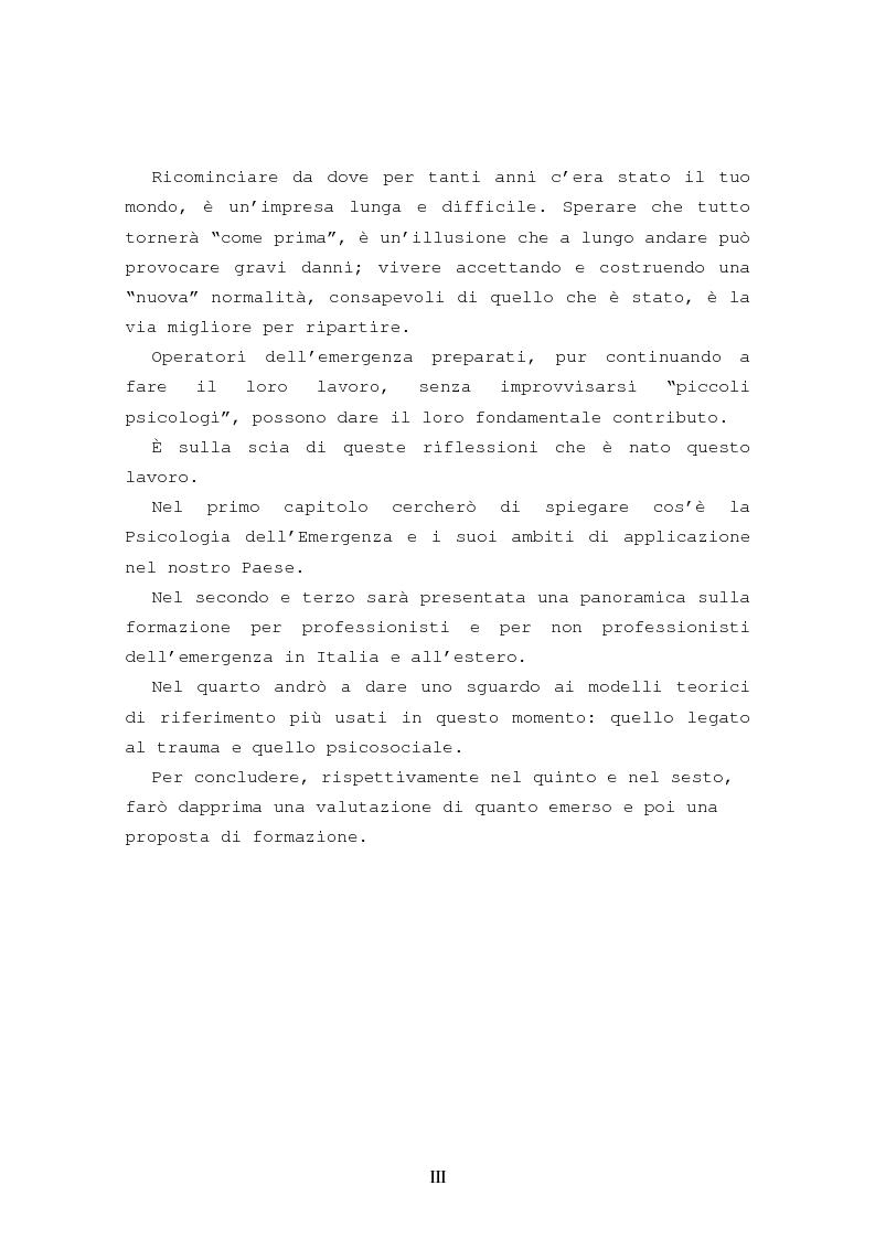 Anteprima della tesi: La formazione in psicologia dell'emergenza, Pagina 3