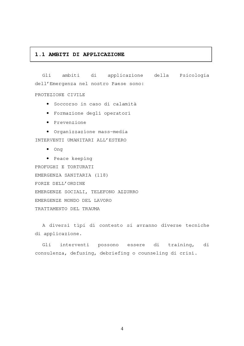 Anteprima della tesi: La formazione in psicologia dell'emergenza, Pagina 7