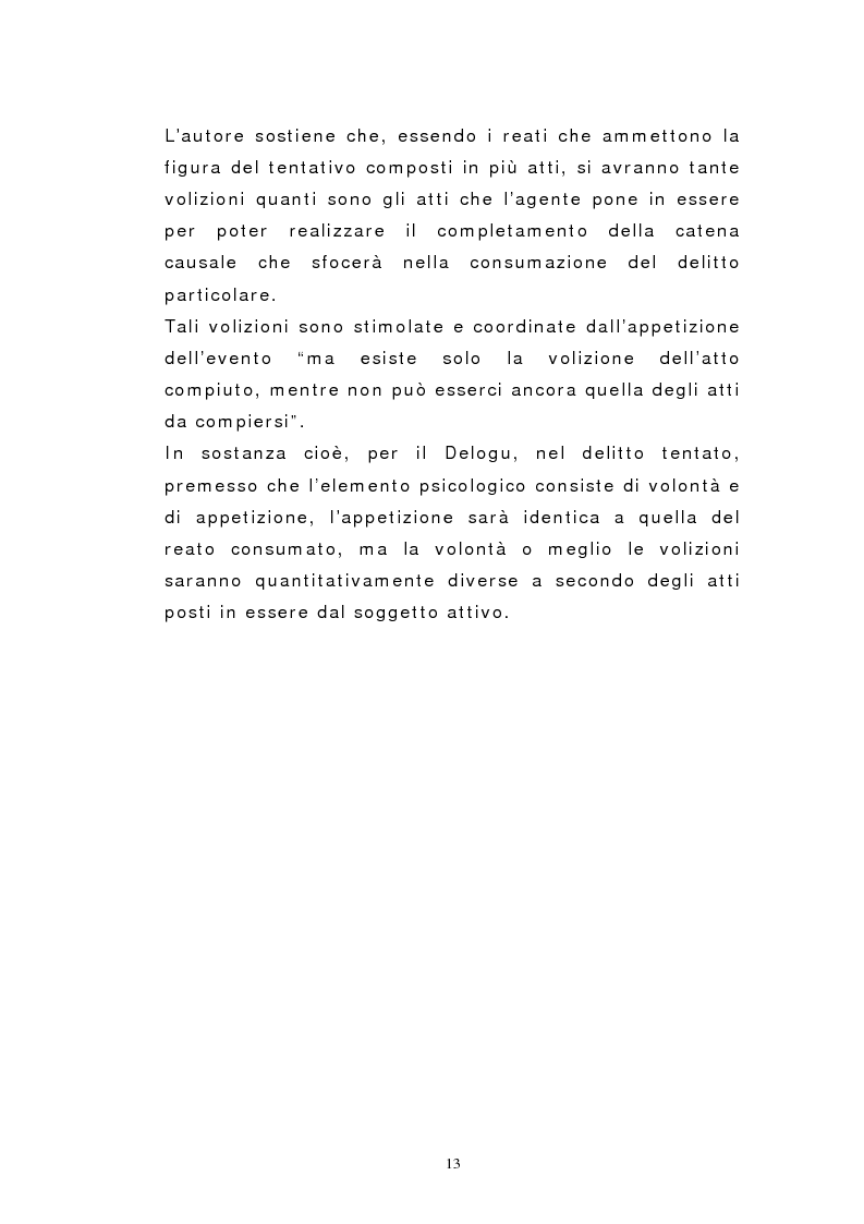 Anteprima della tesi: Il dolo del tentativo, Pagina 11