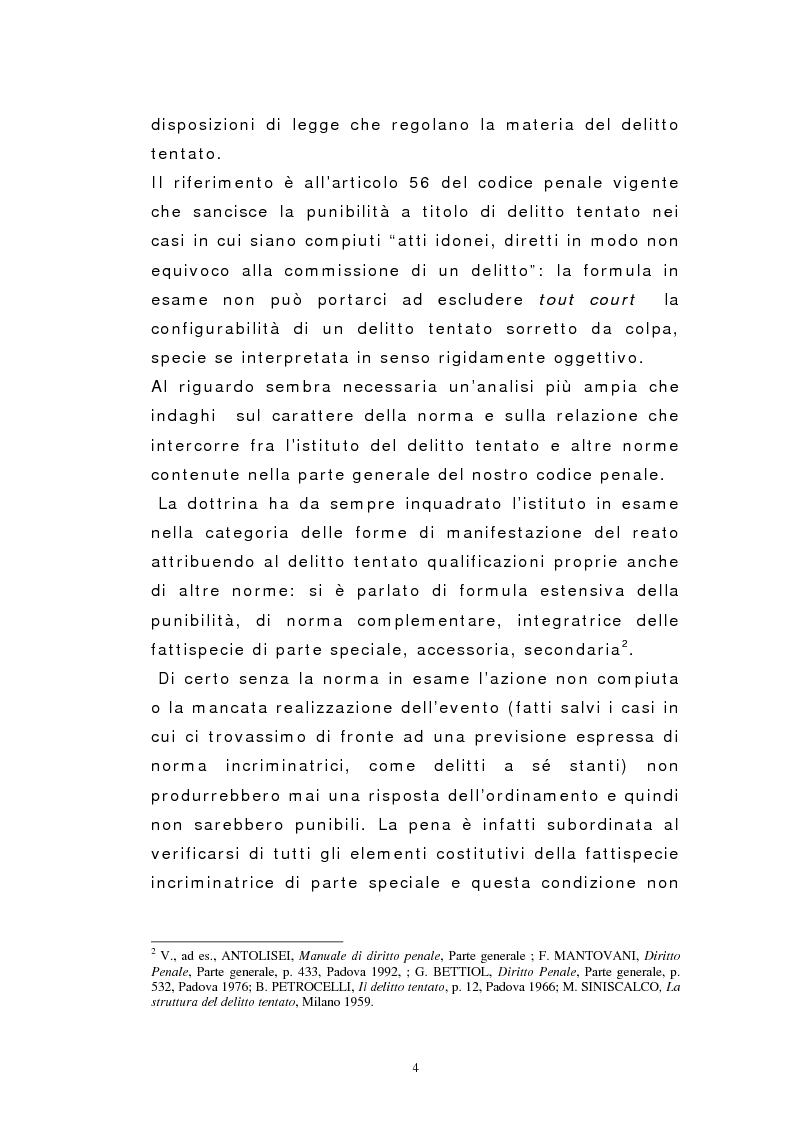 Anteprima della tesi: Il dolo del tentativo, Pagina 2
