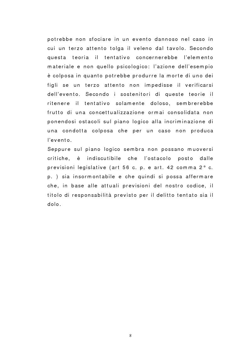 Anteprima della tesi: Il dolo del tentativo, Pagina 6