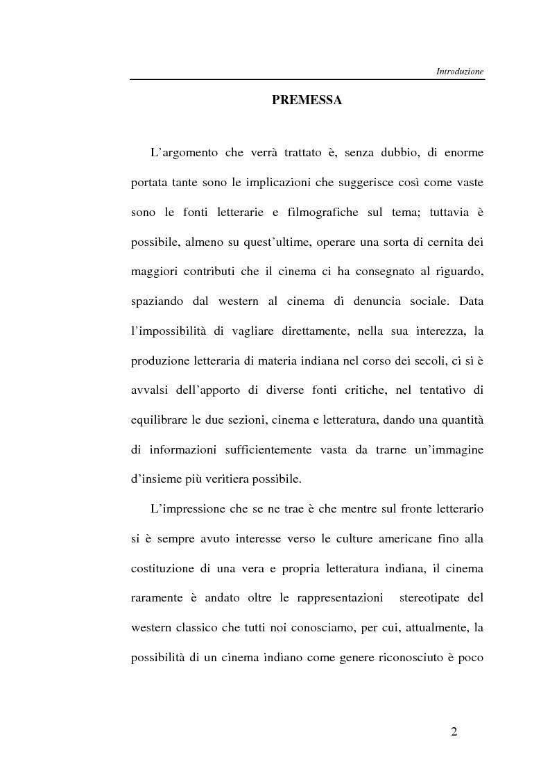 Anteprima della tesi: L'Indiano d'America tra letteratura e cinema, Pagina 2