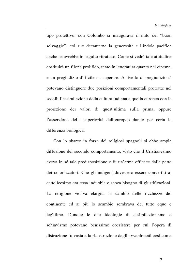 Anteprima della tesi: L'Indiano d'America tra letteratura e cinema, Pagina 7