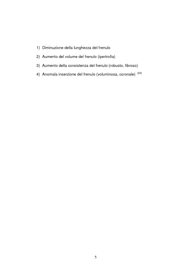 Anteprima della tesi: Trattamento dei frenuli vestibolari superiori in chirurgia preprotesica, Pagina 3