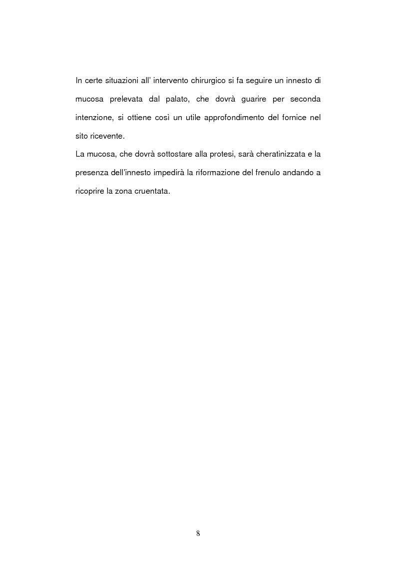 Anteprima della tesi: Trattamento dei frenuli vestibolari superiori in chirurgia preprotesica, Pagina 6