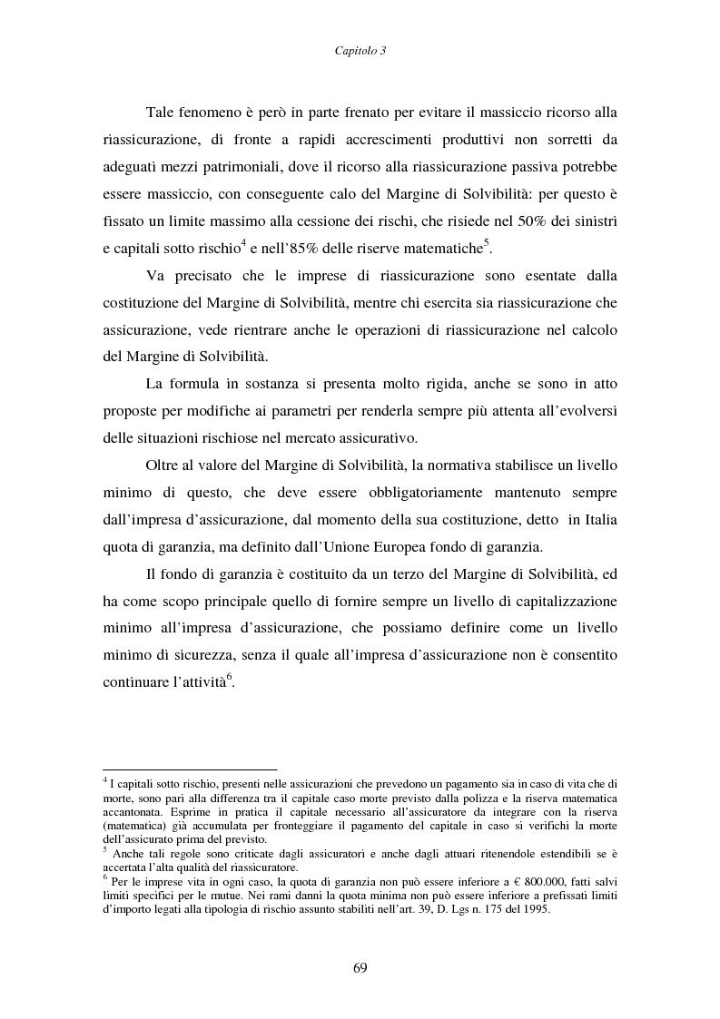 Anteprima della tesi: Il margine di solvibilità ed il risk based capital nel controllo della solvibilità delle imprese di assicurazione, Pagina 4