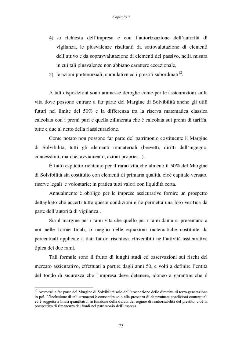 Anteprima della tesi: Il margine di solvibilità ed il risk based capital nel controllo della solvibilità delle imprese di assicurazione, Pagina 8