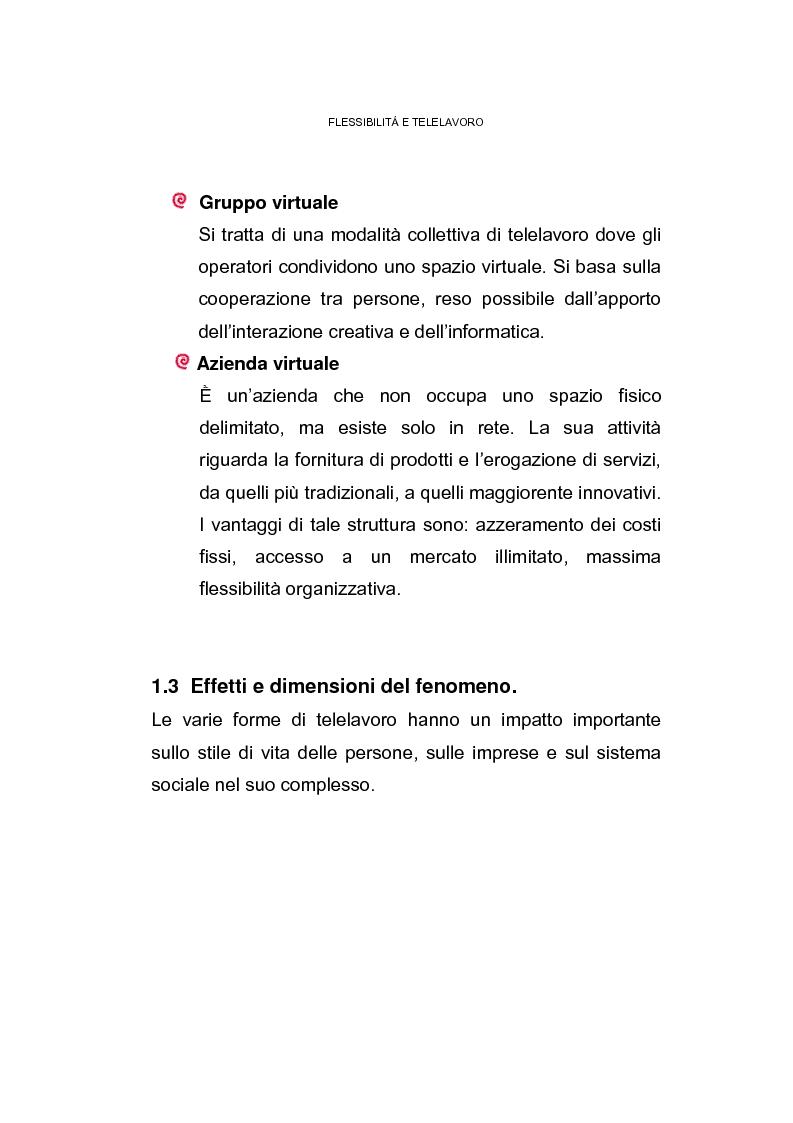 Anteprima della tesi: Il posto di lavoro flessibile: il telelavoro, Pagina 10