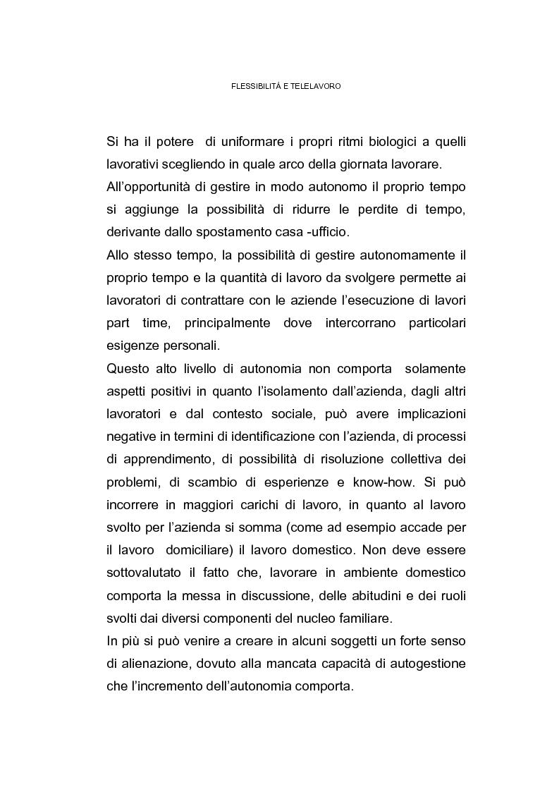 Anteprima della tesi: Il posto di lavoro flessibile: il telelavoro, Pagina 14