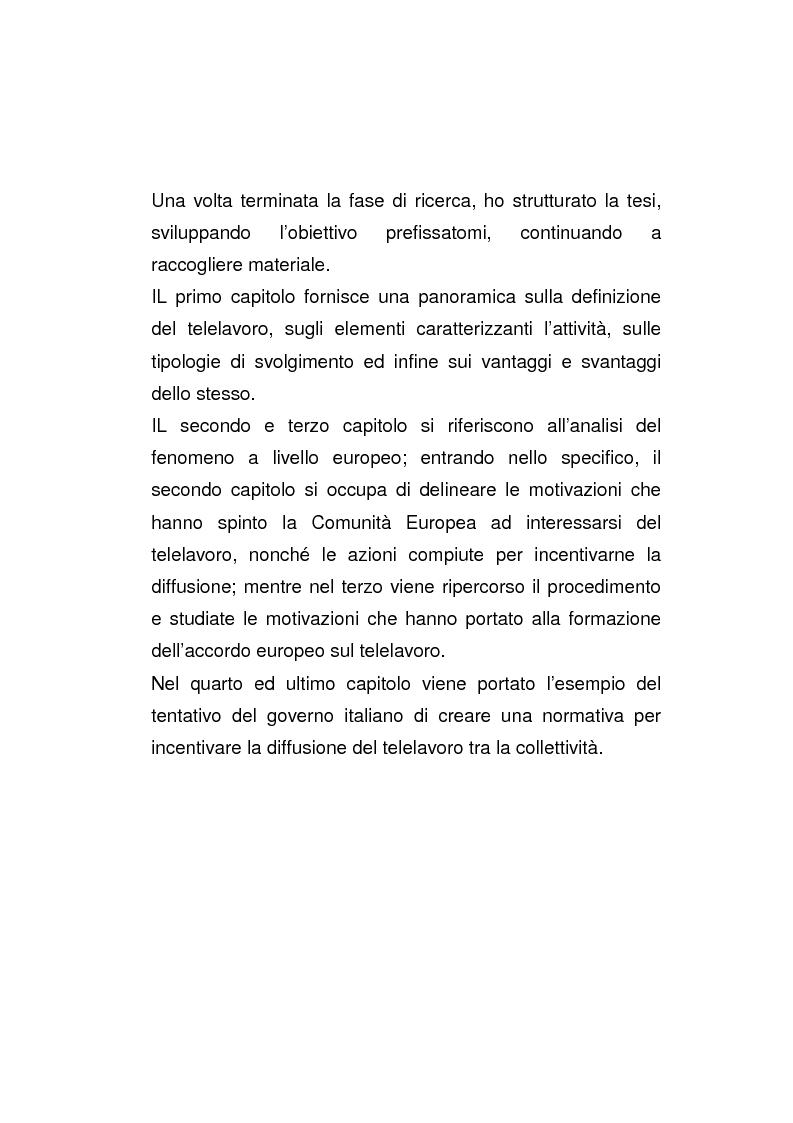 Anteprima della tesi: Il posto di lavoro flessibile: il telelavoro, Pagina 2