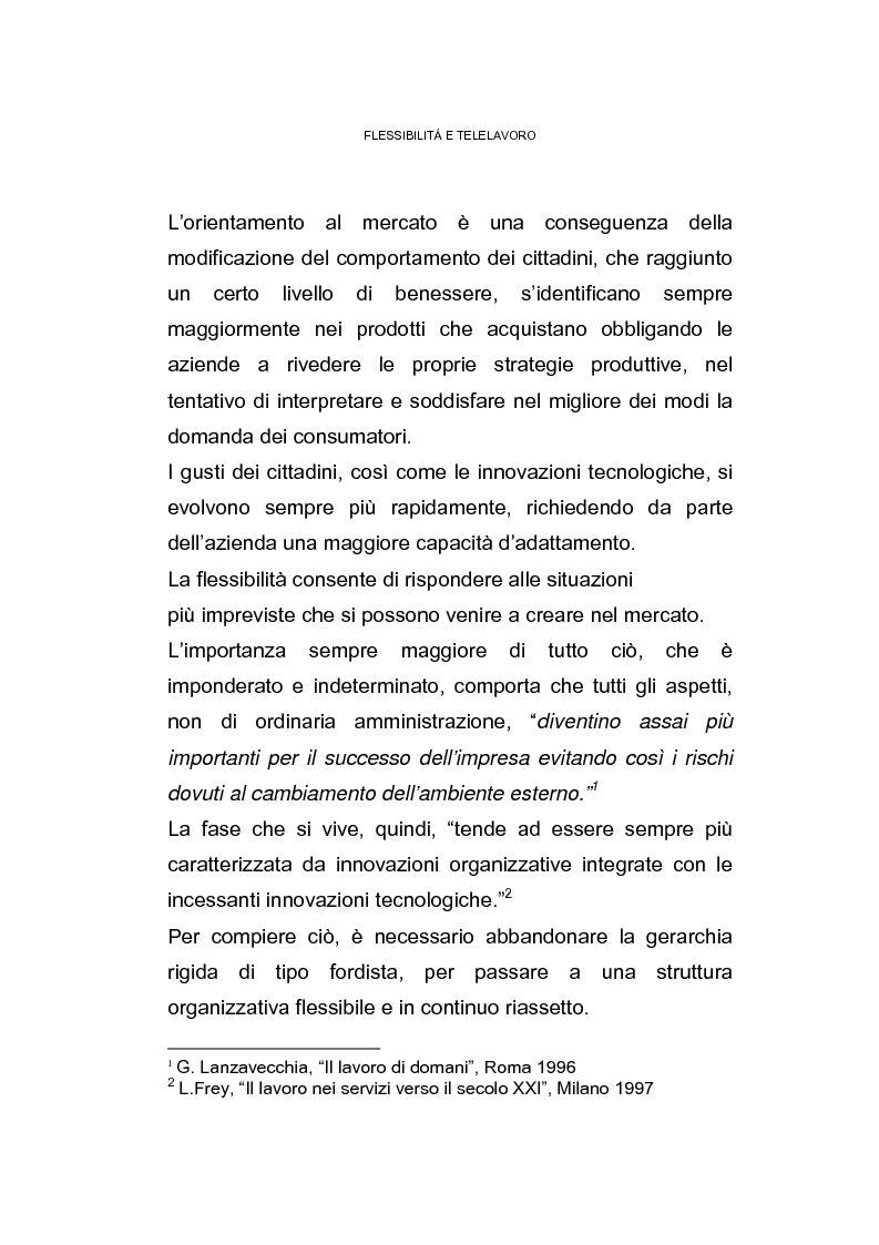 Anteprima della tesi: Il posto di lavoro flessibile: il telelavoro, Pagina 5