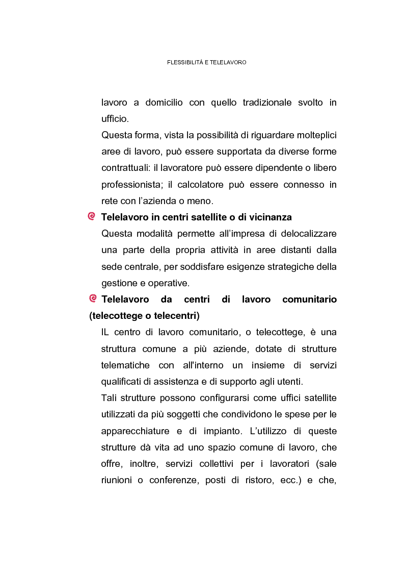 Anteprima della tesi: Il posto di lavoro flessibile: il telelavoro, Pagina 8