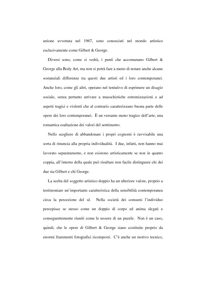 Anteprima della tesi: Gilbert & George: l'arte del corpo come corpo nell'arte, Pagina 2