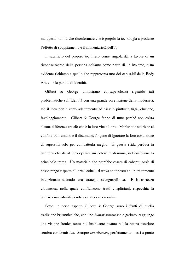 Anteprima della tesi: Gilbert & George: l'arte del corpo come corpo nell'arte, Pagina 3