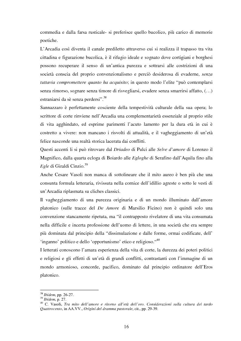 Anteprima della tesi: Metamorfosi dell'arcadia: edizioni e rappresentazioni del sacrificio di Agostino Beccari, Pagina 13