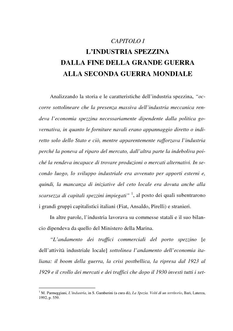 Anteprima della tesi: Resistenza e classe operaia a La Spezia, Pagina 1