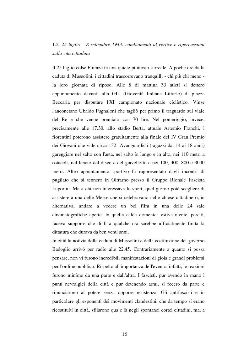 Anteprima della tesi: Vita quotidiana a Firenze nei mesi della Repubblica Sociale Italiana, Pagina 13